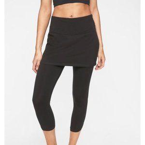 Athleta Black Organic Cotton Skirt Capris Legging